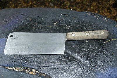 Vintage Elwell Meat Cleaver 10in Blade. Great old tool