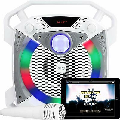 RockJam SingCube 12w Bluetooth Karaoke Machine With Microphone And Lights