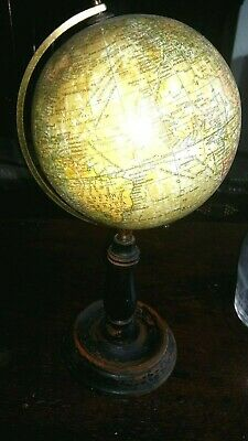 Geographica 6 Inch Terrestrial Globe On Original Wooden Stand