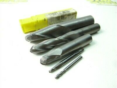 """Lot Of 5 Solid Carbide Ballnose End Mills 1/8"""" To 18Mm Sgs Morse Garr"""