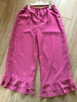 BNWT Fabulous Designer PINK RUFFLE PANTS TROUSERS Age 10 by BALU of Cape Town