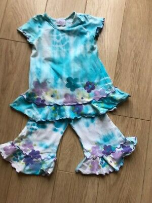 Fabulous Designer GIRLS outfit Age 3 by BALU of Cape Town Hand Painted flowers