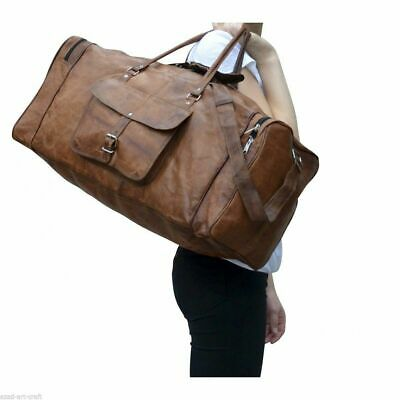Handmade Leather Travel Bag For Men and Women Gym Sports Duffel Bags Holdall Bag