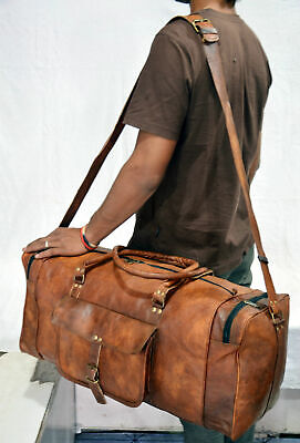 Genuine Leather Weekender Duffel Bags For Men and Women Oversized Bag Travelling