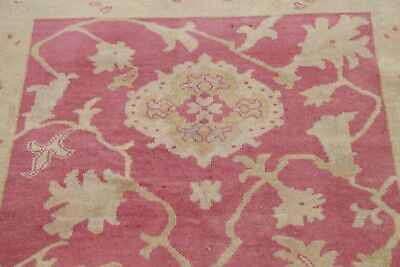 Antique Look PINK Oushak Egyptian All-Over Rug Vegetable Dye Hand-Knotted 3'x5'