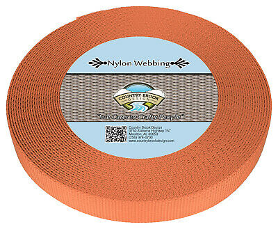 Country Brook Design® 3/4 Inch Coral Nylon Heavy Webbing, 10 Yards