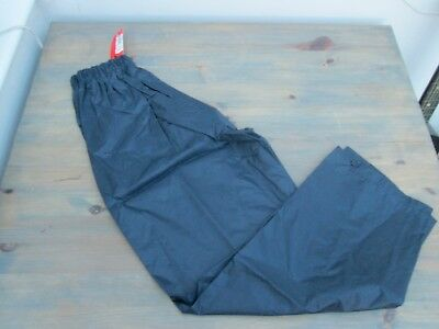 "Navy blue waterproof overtrousers by RESULT"", size LB, Brand new with tags."