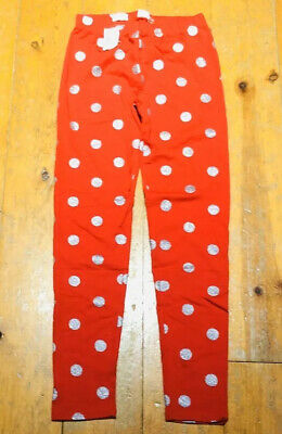 NWT GAP KIDS GIRLS LEGGINGS red silver polka dots Valentine's Day you pick size