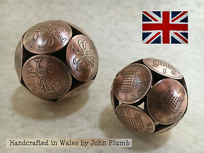 Bronze Coinball made from British One Penny or Two Penny coins . Made in Wales