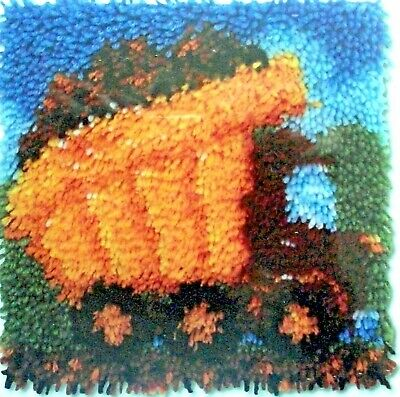 "Latch Hook Rug/Pillow  Canvas  Kit  ""A Dump Truck"""