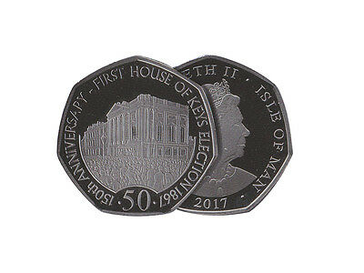 IOM Manx Uncirculated HOUSE OF KEYS 50p Coin