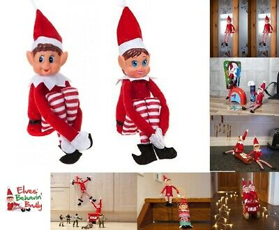 Red Naughty Elves Behaving Badly On The Shelf Toy Figure Doll Christmas Xmas