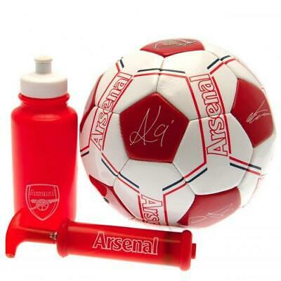 Arsenal FC Signature Signed Size 5 Football Ball  Pump Bottle Gift Set
