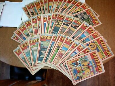 Collection of Tiger Comics 45 issues 43 issues from 1977 and 2 from 1981 job lot