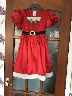 Girls Mrs Christmas Dressing Up Outfit -  Age 8-9 - From Matalan