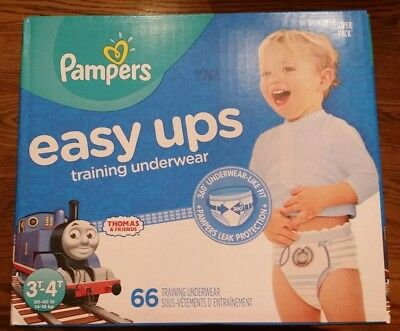 Pampers Easy UPS Training Underwear 3T- 4T ~ 66 count ~ boys ~ Thomas the Train