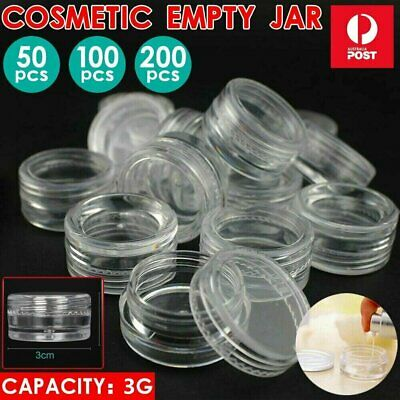 50/200x Mini Sample Bottle Cosmetic Makeup Jar Pot Face Cream Lip Balm Container