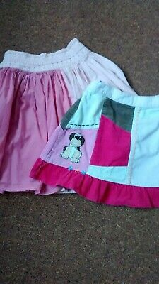 Two Girls Skirts Age 3-4 Years From Cherokee One With Adjustable Waist