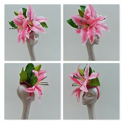 Giant Lillies Fascinator Ideal For Ascot By Hats2Go
