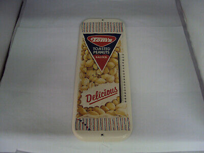 """Vintage Advertising Tom's Toasted Peanuts 16"""" Thermometer Near Mint S-483"""