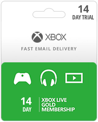 XBOX LIVE 14 Day GOLD Trial Membership Code INSTANT DILIVERY - 2 Weeks 14 Days