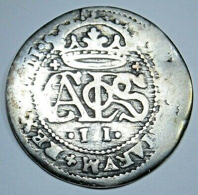 1711 Spanish Silver 2 Reales Piece of 8 Real Colonial Era Two Bits Pirate Coin
