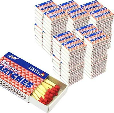 10 Pack of 10 BOXES  WOODEN RED PENNY MATCHES 32 x 100=3200 STRIKE ON BOX