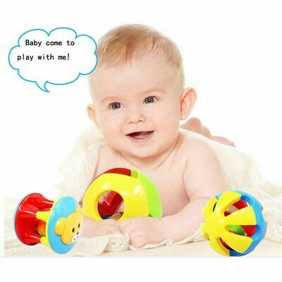 Gifts Musical Kids Lovely Plastic Ball Cartoon Hand Bell Baby Rattles Toy