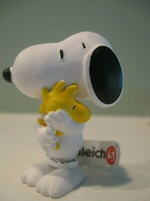 FIGURINE PVC BD SNOOPY PEANUT SCHLEICH GO TO WORK WITH SUITCASE AND WOODSTOCK