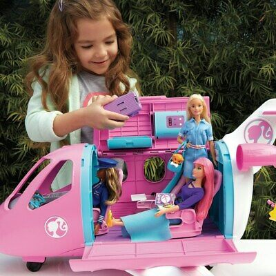 Barbie Travel Dream Plane Playset Kids Imaginative Play Toy Girls Collection New