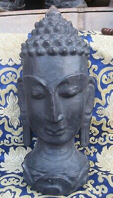 Antique Master Quality Handmade wooden Buddha Head Rupa , Nepal