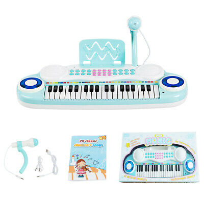 37-Key Toy Keyboard Piano Electronic Musical Instrument w/Microphone&Music Score