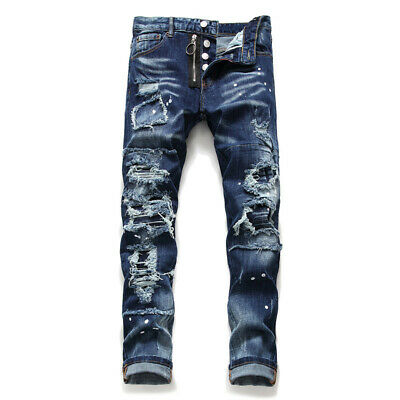 Hot! Men's Dsquared2 Jeans Slim Fit DSQ2 Washed Denim CANADA Brothers 2%Elastane