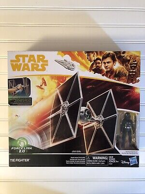 STAR WARS Force Link 2.0 Tie Fighter with Fighter Pilot Figure Hasbro Disney NIB