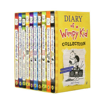 Diary of a Wimpy Kid 10 Books Boxed Set By Jeff Kinney Pack