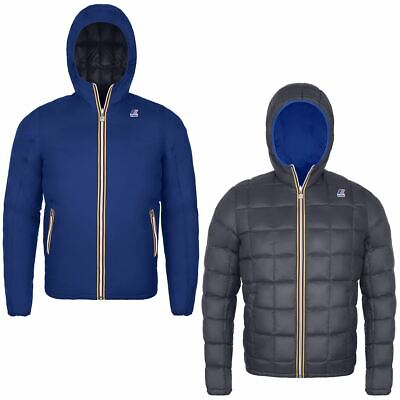 K-Way Uomo Jacques Thermo Plus Double In Piuma D'oca Blue/Grey Promo