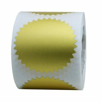 Coloured 41mm Starburst Stickers Company Legal Notary Certificate Labels