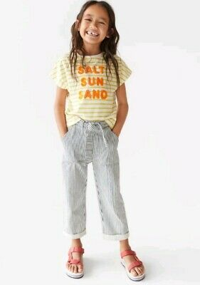 Girls Zara Stripe Trousers Age 6 Years