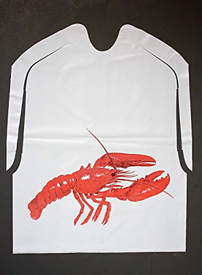 Lobster Bibs Plastic Disposable Keeps Clothing Clean Restaurants Weddings Fests