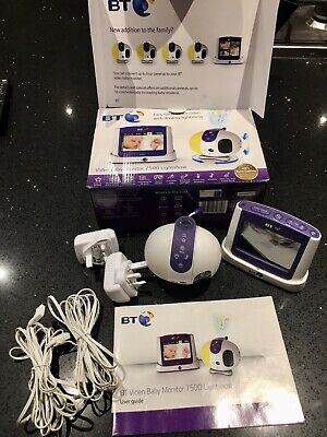 BT Video baby monitor 7500 Lightshow, Digital Video, In Excellent Condition