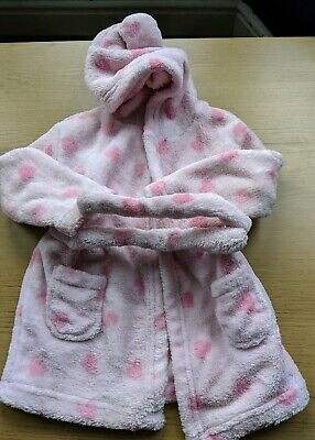 Baby Girls 6-9 Months Dressing Gown Pink