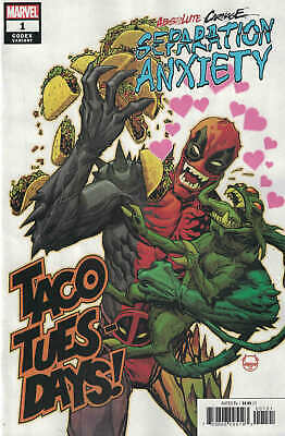 Absolute Carnage Separation Anxiety #1 1:25 Johnson Deadpool Variant Marvel 2019