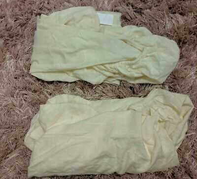Cot Fitted Sheets X 2 70cm X120cm Cream