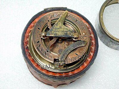 Critsmas Gift Maritime Nautical Antique Brass Sundial compass Drum Sundial