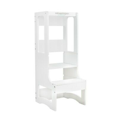 Adjustable Height Learning Tower® Scandi White. Toddler Tower.
