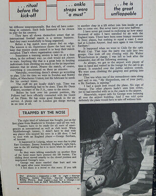 Signed England 1966 World Cup Ray Wilson Football Annual Autograph Page Everton