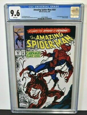Amazing Spider-Man #361 (1992) CGC Graded 9.6 ~ 1st Full App. Carnage ~ Marvel