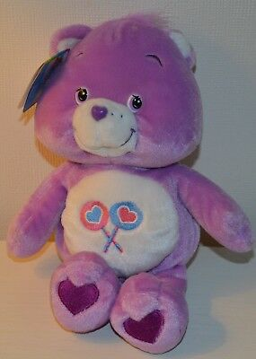 Peluche BISOUNOURS Share care Bears COLLECTOR 25cm NEUF 2002 Play Along