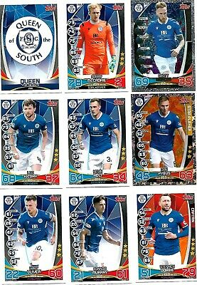 Mint Queen Of The South  2019/20 Spfl Match Attax Football Trade Cards Team Set.