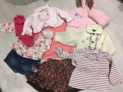 YOUNG GIRLS BUNDLE PINK CORAL THEMED BLUE ZOO NEXT MATALAN 18 m to 3 YEARS